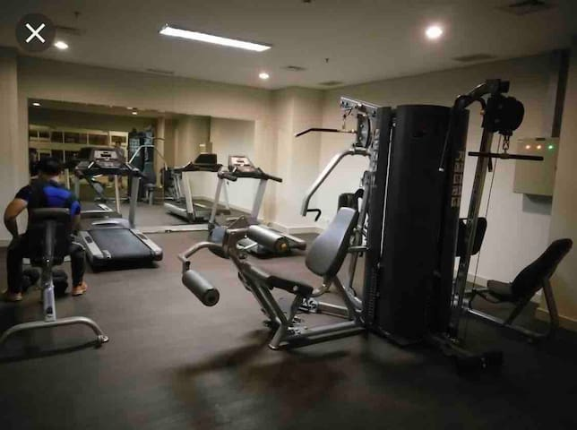 GYM at 6th floor. At the same floor has one alfamart too