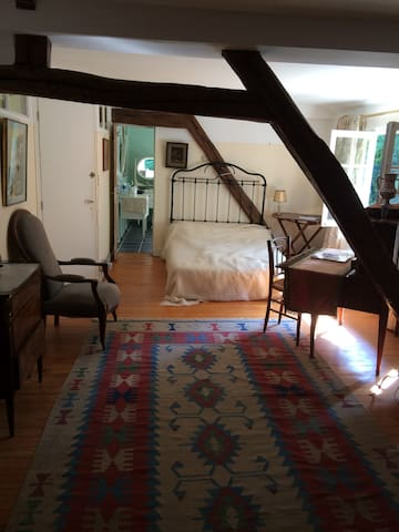 Exceptional room in French XVII th century House - Vert-le-Petit - Casa