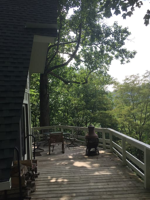 Back porch overlooking Grandfather mountain