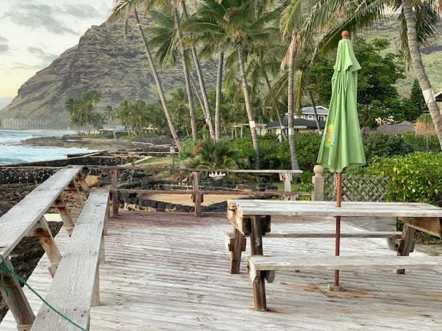 Ocean Front Property in Makaha - 1 Bedroom House