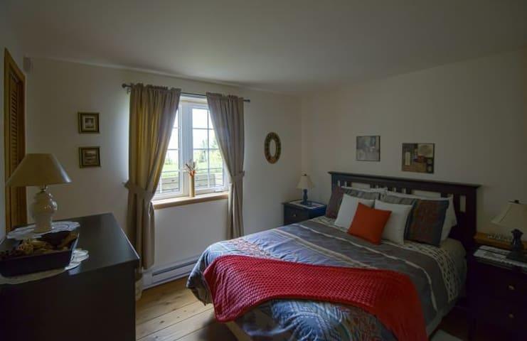 Chambre douillette avec lit double