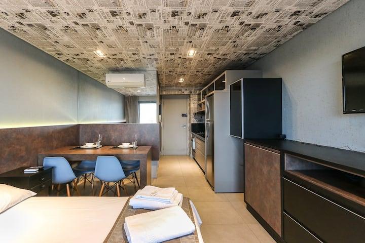 7th025 - Studio com Vista em Condomínio Club