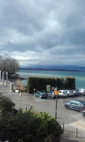 Appartement 3 piéces avec vue sur le lac - Margencel - Byt