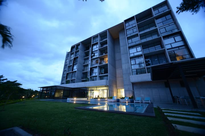 New 2 bedroom apartment in sports oriented condo.