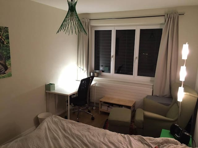 Large, cosy and modern double bedroom near EPFL - Saint-Sulpice - House