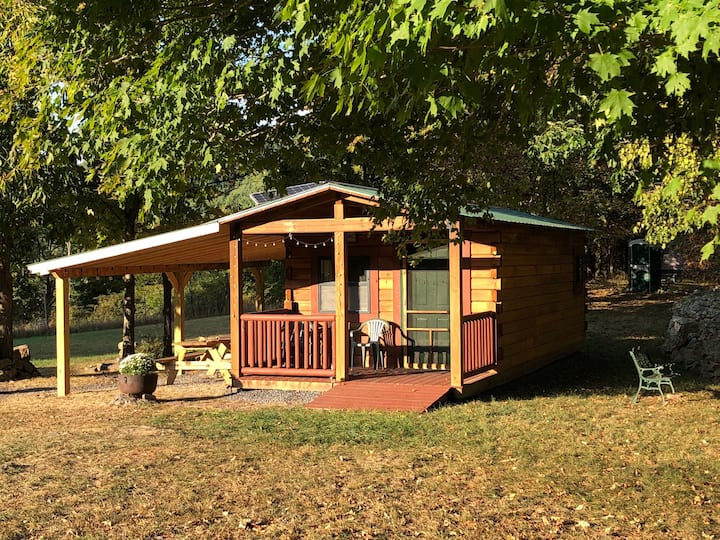 Loafer's Glory Rustic Camp Cabin on 190 acre farm