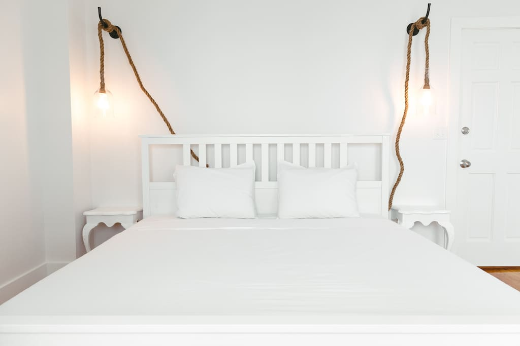 Comfy king bed brings you the sweetest dreams imaginable