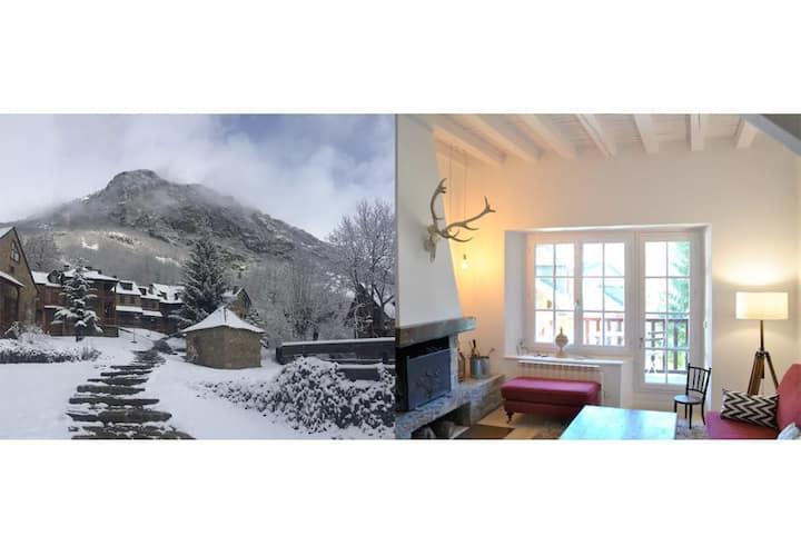 Casa con jardín en Unha (Baqueira) y  con WIFI