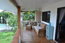 Large  private terrace to check the surf, relax during the day and unwind in the evening.