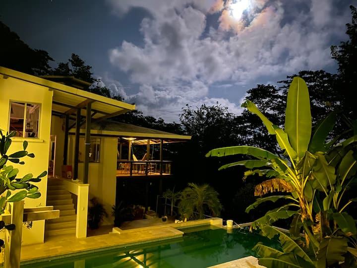 Villa copa de árbol,  oceanview,  pool, beach