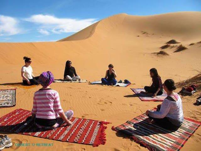 yoga desert camp