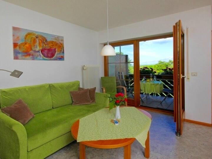 Patricias Haus, (Vogtsburg-Oberrotweil), Ferienwohnung 1 Kirchberg, 1 Schlafzimmer für max. 4 Personen