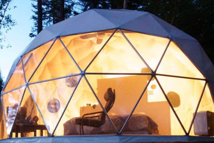Hill Country Glamping Spirit Dome Guadalupe River