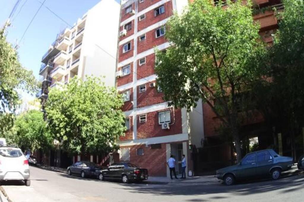 El edificio donde se ubica el apartamento