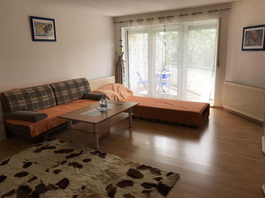 Sofa mit Schlaffunktion für 2 Pax
