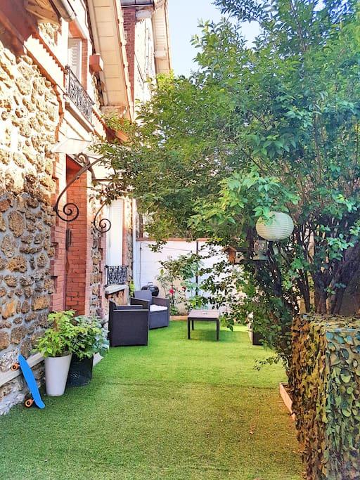 Jardin de la maison de 40m²