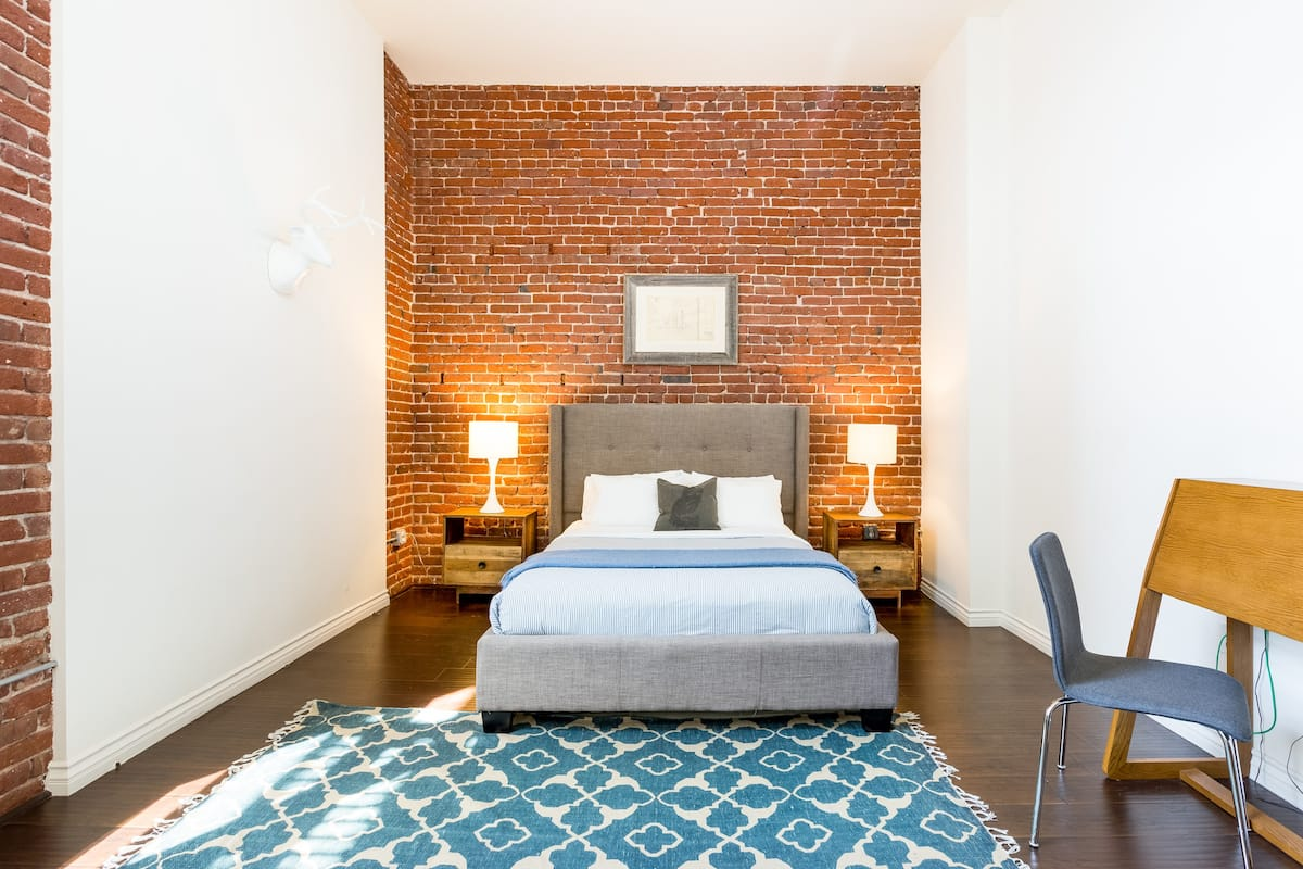 Visit LA Live from a Spacious Industrial Loft