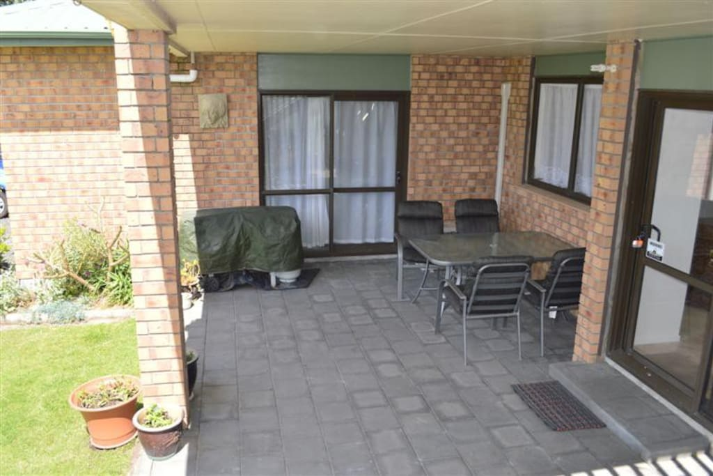 Covered deck and BBQ area
