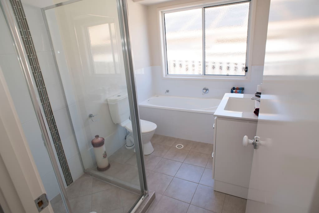 Your own private  bathroom with towels.
