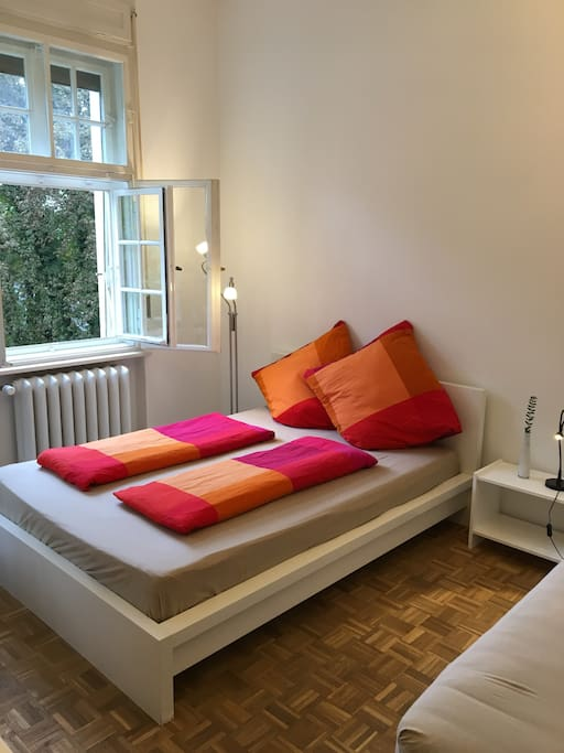 Newly renovated 2/3 bed guest room with a beautiful garden view and private bathroom