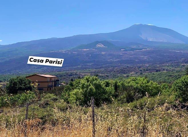 (Morgenspaziergang) Casa Parisi am Fuß des Etna