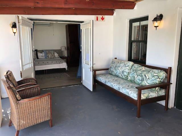 Patio, entrance to Bedroom