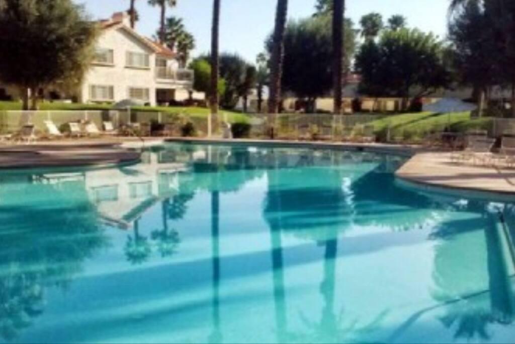 Pool that the condo overlooks