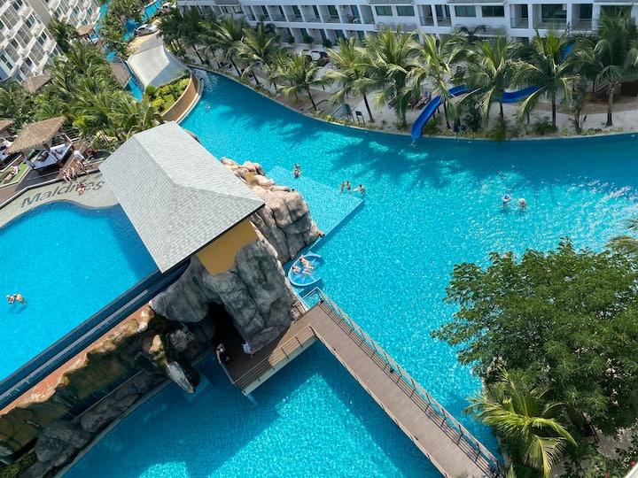 芭提雅laguana beach 3 Maldives网红公寓马尔代夫超大水系