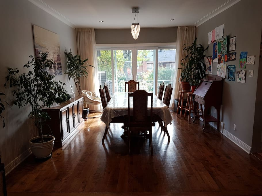 Dining room fits 12 guests easy