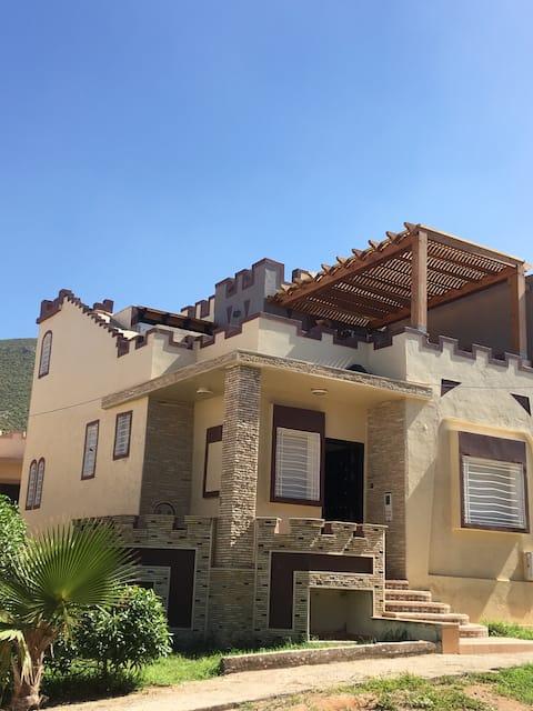 Villa type Ksar à Aglou face à l'océan