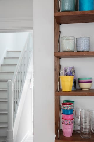 Kitchen and stairway