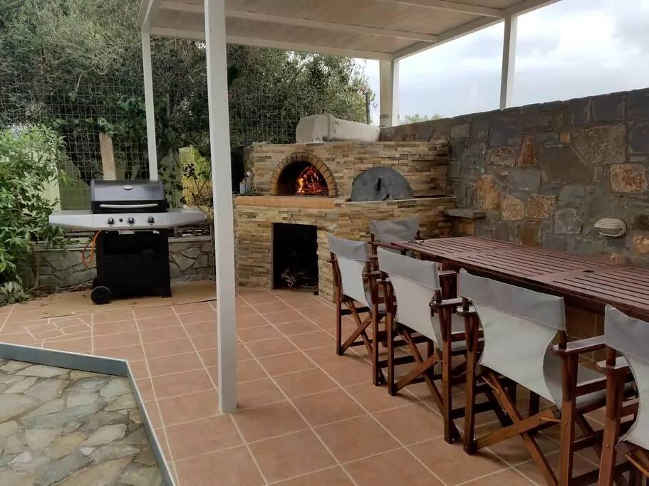 brick oven area