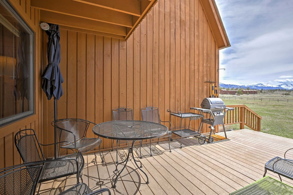 Breathe in the fresh mountain air from your back patio!