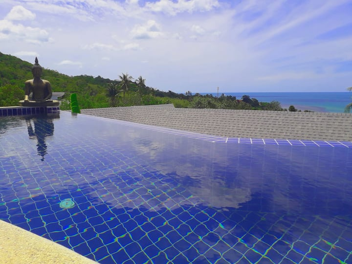 Beautiful modern villa 3 beds, amazing seaview