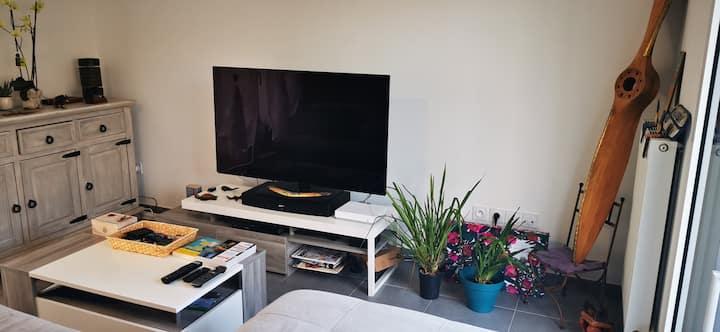 Chambre paisible dans villa au calme