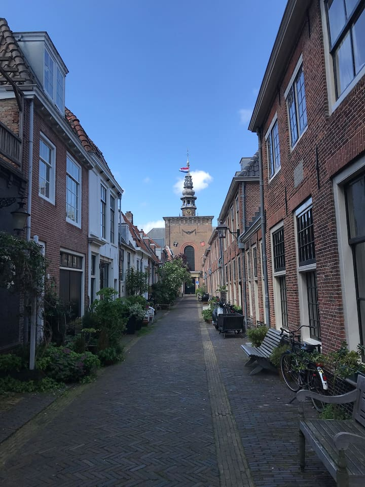 Our Street which leads up to the famous 16th century Grote Kerk or St.-Bavokerk