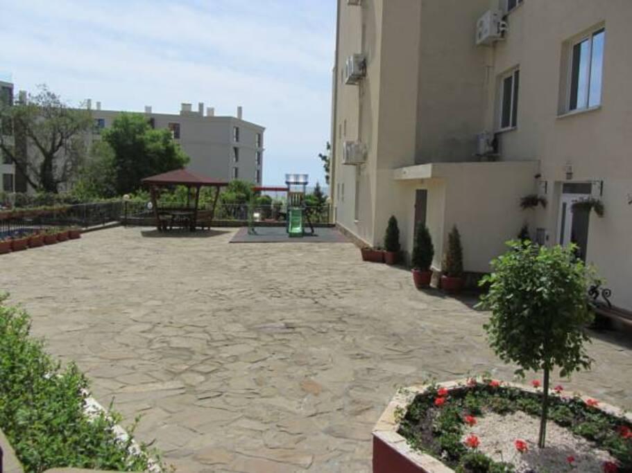 The garden and playground for children