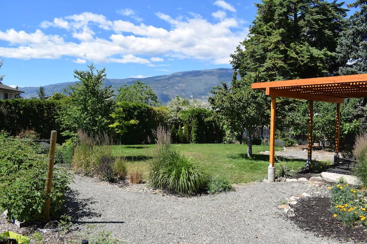 The beautiful views of the southern Okanagan from the gardens