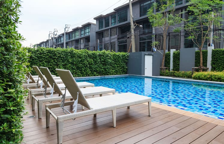 1BRnew condo 2mins to Shopping Mall - Bangkok - Wohnung