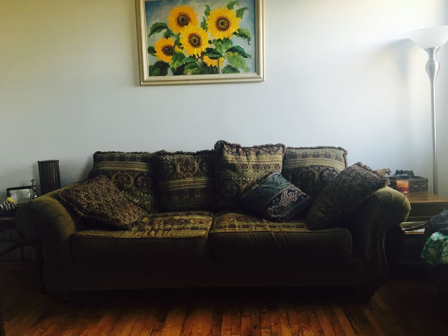 One of the 3 seating arrangements we have for you.  As we upgrade you will see how the apartment flows.