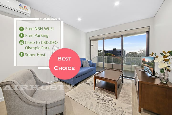 modern home near Sydney Olympic park, WIFI parking