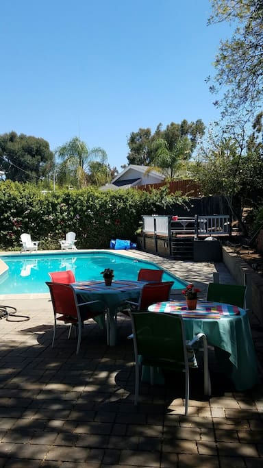 Summer fun!! Pool, Jacuzzi, fire pit and BBQ's always equal memories family time.