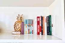 Selection of books  to read while you stay at the apartment.