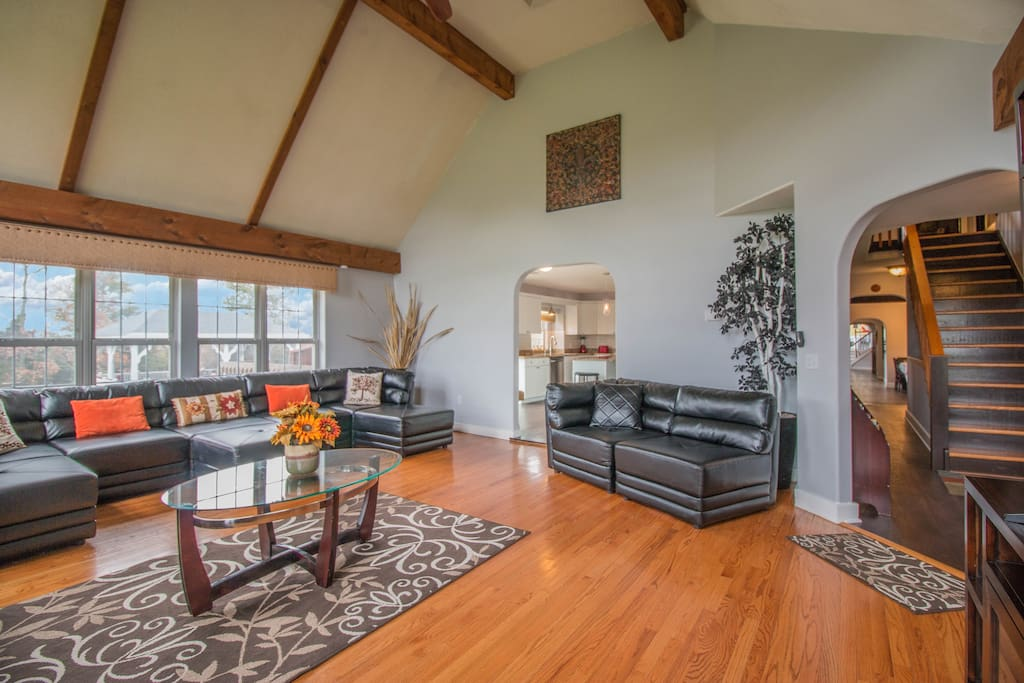 One of many living areas located throughout the property