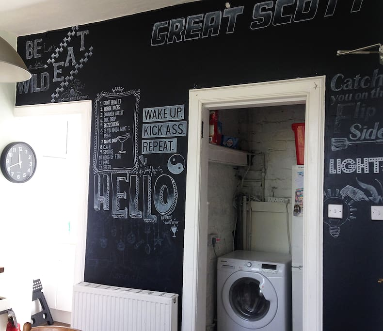 Blackboard wall designed by ours truly