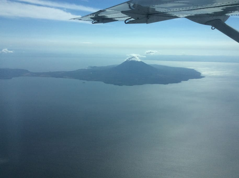property is at closest point at the foot of the volcano