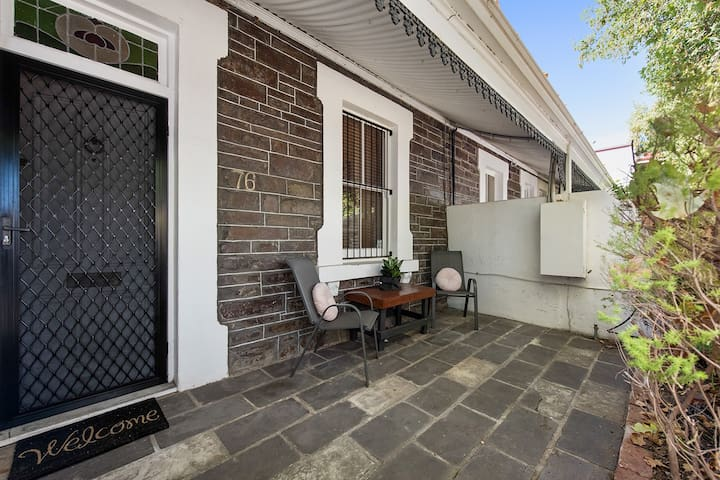 Front entrance verandah with outdoor sitting area