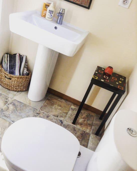 Private bathroom...