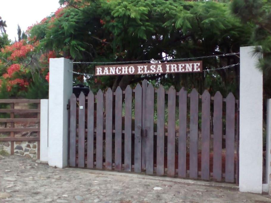 Rancho Elsa Irene, entrance. Located at Km 8 1/2 Carretera Manuel Alsenio Ureña