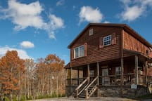 Chestnut Chalet wood exterior gives you a cabin feel with modern amenities on the inside.